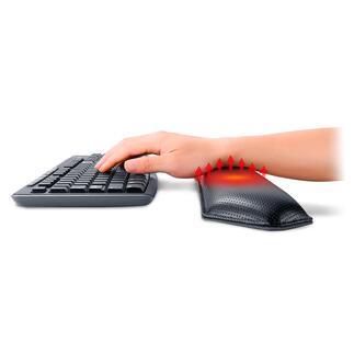 Verwarmde polssteunen De betere polssteun voor ergonomische ondersteuning en ontspannende warmte. Voor het toetsenbord of de muis.