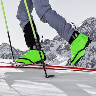 SNÜX® ski-overschoenen Nooit meer koude voeten in skischoenen en dat zonder batterij of snoer. Gepatenteerde hightech-overschoenen, gemaakt van thermoactief Cozytech®.