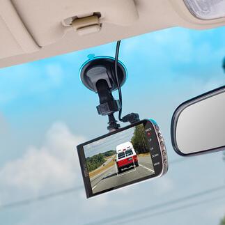 Dashcam met assistentiesysteem De betere dashcam: Full HD-videocamera en 3-voudig assistentiesysteem tegelijkertijd.