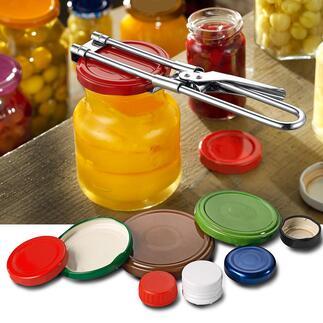 Dekselopener, set van 2 Van frisdrankflessen tot augurkenpotjes: deze opener kan met gemak bijna elke schroefdop aan.