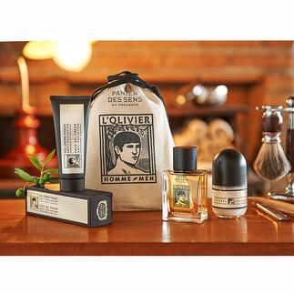 L'Oliviercadeautasje of gezichtsverzorging, 75 ml L'Olivier: de eerste geur- en verzorgingslijn voor mannen van Panier des Sens – het franse merk voor natuurlijke cosmetica.
