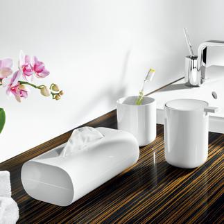 Coole badkameraccessoires van Alessi Zorgen voor orde – en zijn altijd een fraaie blikvanger. Design: Piero Lissoni, 2010.