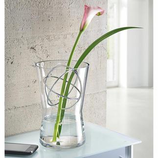 Glazen vaas met decosfeer Bloemstukken met lange stelen, luxe boeketten etc.: altijd de perfecte vaas.