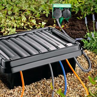 DRi®BOX De veilige outdoor plek voor uw mobiele meervoudige stekkerdoos. Waterdicht en stofdicht.