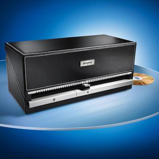 Cd/dvd-organizer Cd-archief met stijl: met één druk op de knop de gewenste cd. Voor 100 cd's.