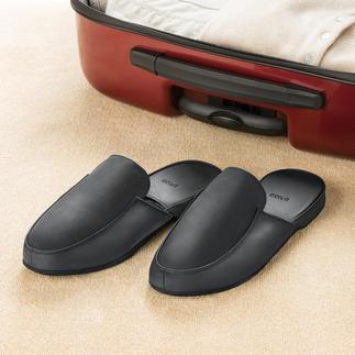Leren pantoffels voor dames en heren In deze comfortabele rundernappa pantoffels ziet u er tóch gekleed uit.