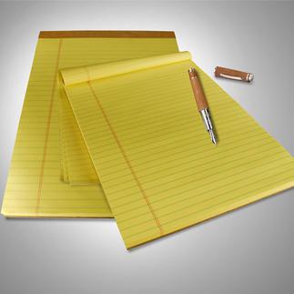 Originele U.S. Legal Pads, 9 blokken à 100 vel Minstens 4 goede redenen om deze schrijfblokken te benutten.