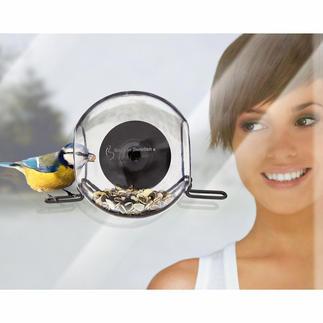 Vogelbol, set van 2 Observeer vogels van zeer nabij. Hecht via zuignap aan het raam. Vorstbestendig.
