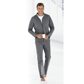 Loungewear-pak, zwart Geschikt om te trainen. Chic bij een spontaan bezoek. Gemakkelijk op de sofa. Eén pak.
