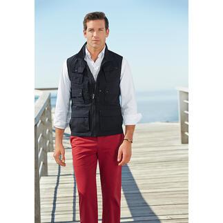 Aigle vest met 10 zakken Met 10handige zakken, beschermt tegen schadelijke UV-straling. Het reisvest met UV-CONTROL®. Van Aigle.