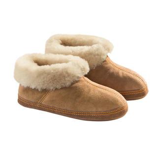 Shepherd lamsvel-pantoffels, dames of heren Een warme bedding voor uw voeten.