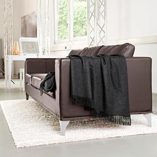 Baby-alpaca-plaid Met 180 x 180 cm ideaal ook als chill-deken voor twee. Van Kero Design/Peru.
