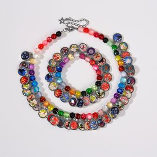 LITCHI etno-geluksketting of -geluksarmband Trendy etno-sieraden, exclusief met de hand gemaakt, met Braziliaanse gelukshangers.
