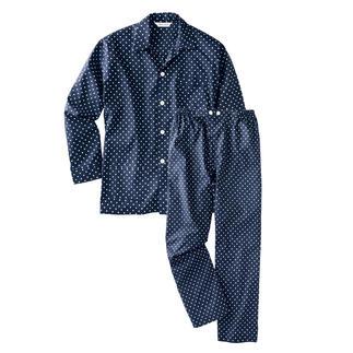Winston-pyjama 's Nachts draagt de ware gentleman 'Winston'-stippen.