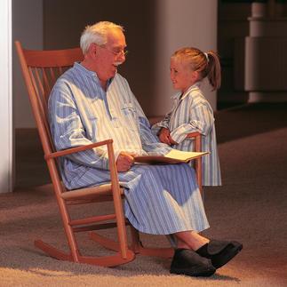 Opa-nachthemd Nostalgisch comfort: fluweelzacht en verwarmend van waardevol, opgeruwd katoenflanel.