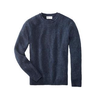 Johnstons herentrui van 4-ply kasjmier-tweed Zo bijzonder, zo zacht: Donegal-tweed-trui van 100 % superfijn 4-ply kasjmier.