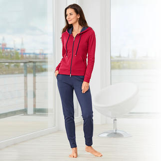 Pima Cotton Homesuit Patronen zijn te bont, effen outfits te saai? Color-Blocking is de juiste, stijlvolle middenweg.