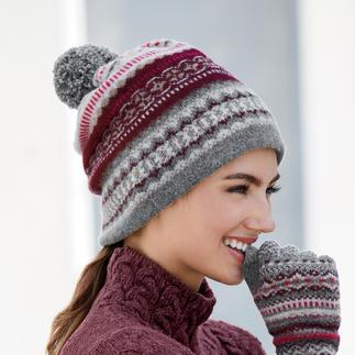 Eribé variabele 2-in-1-sjaal of handschoenen Heel veelzijdig: 's morgens een muts,'s middags een sjaal, 's avonds een beanie. Van Eribé.