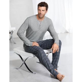 Hanro pyjama 'Perfect blend' Perfecte pyjamacombinatie: onvergelijkbaar fijn shirt van MicroModal + heerlijk zachte broek van katoenflanel.
