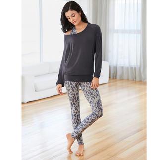 Curare yoga-shirt, top leoprint of leggings Het wellicht comfortabelste huispak dat u ooit hebt gedragen. Van Curare Yogawear.