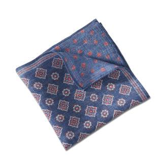 Pellens & Loick doubleprint-pochet, blauw/rood De doubleprint-pochet van het traditionele Duitse merk Pellens & Loick sinds 1870.