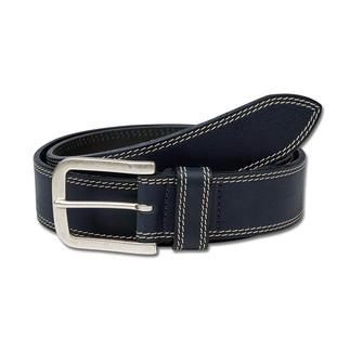 Leren Toscaanse riem, blauw De perfecte jeansriem is van sterk rundleer. In Toscane gelooid en veredeld.