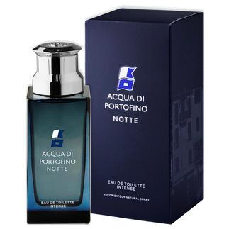 Acqua di Portofino 'Notte' herengeur, Eau de Toilette Intense Herengeur 'Notte' van Acqua di Portofino: een hit in Italië, maar in ons land nog moeilijk te vinden.
