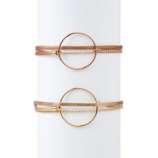 Layering-armband met sierring Zo bijzonder (en toch zo aantrekkelijk geprijsd) zijn trendy layering-armbanden maar zelden. Van FlowersForZoé.
