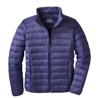 Gewatteerd jack van gerecycled dons, voor heren Heerlijk warm, licht en met een goed geweten te dragen. Een bijzonder modieus jack met gerecycled dons.