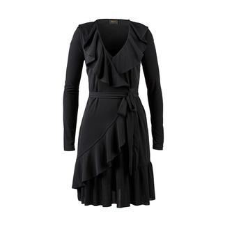 Liu Jo jersey jurk met rushes Vrouwelijke ruches. Verleidelijke wrap-look. Ongecompliceerd tricot. Van Liu Jo, Italië.