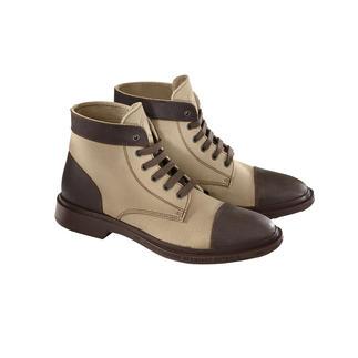 Pezzol workwear-boots Helemaal in de stijl van de workwear-trend: de veiligheidslaarzen van booreilandmedewerkers.