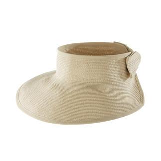 Loevenich zonneklep van gevlochten papierstro Flexibel exemplaar van gevlochten papierstro. Van Loevenich, ambach-telijke hoedenmaker sinds 1960.