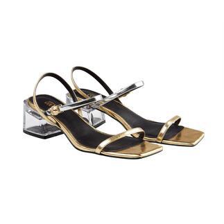 Versace Jeans Couture metallic-sandalen Comfortabel en veelzijdig. Aangenaam betaalbaar. Van Versace.