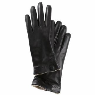 Merola-handschoenen, dames De luxehandschoen voor winter en zomer. Van zeer fijn lamsnappa. Met uitknoopbare kasjmier-binnenvoering.