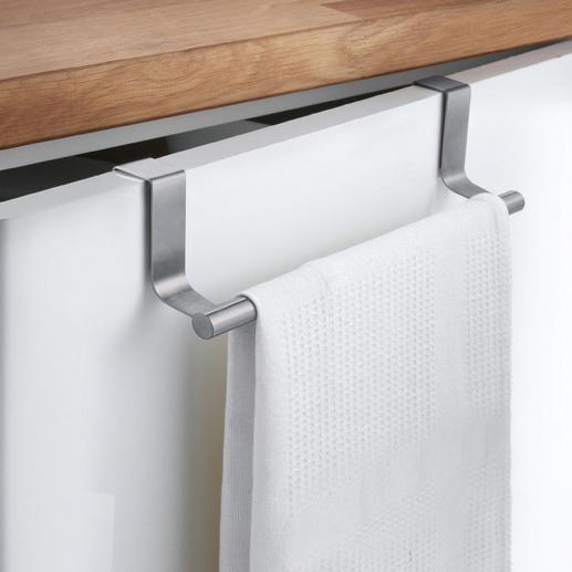 Handdoekhouder, set van 2 - Elke kastdeur wordt een elegante handdoekhouder. Gewoon inhangen. Ideaal voor keuken en badkamer.