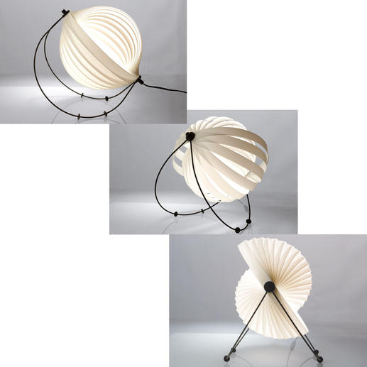 Dankzij 4 beweegbare kunstof pootjes op de zwarte metalen boog kunt u de helling van de lamp evenals de lichtreflectiehoek bepalen.