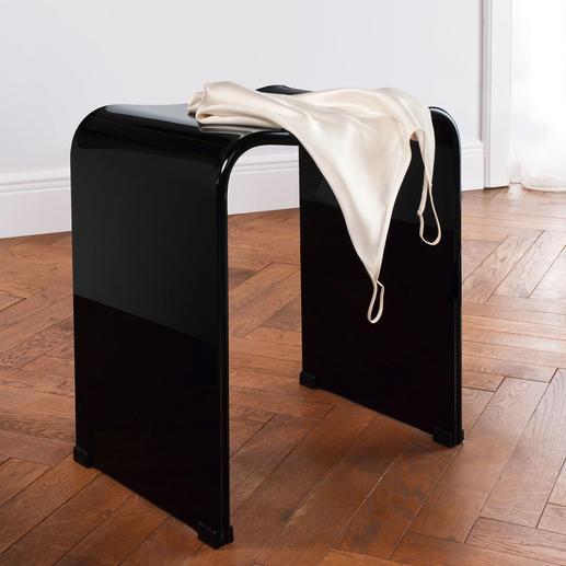 Door zijn luxe glanzende uiterlijk is deze acrylkruk ook een sieraad voor uw kleed- of slaapkamer.
