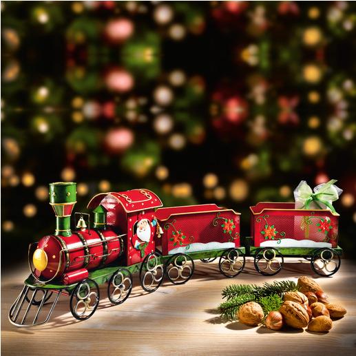 Nostalgische kersttrein Betoverende decoratie – en de mooiste manier om uw cadeaus te geven.