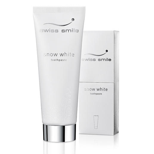 swiss smile whitening-tandpasta of swiss smile 'Pearl Shine & Repair Conditioner' Stralend witte tanden. Zonder agressieve poetsmiddelen, chemische witmakers en peroxiden.