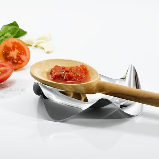 Designkooklepelhouder van Alessi De waarschijnlijk mooiste en functioneelste houder voor kooklepels & co. Van Alessi.
