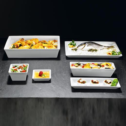 ASA-vormen Bakken, gratineren, invriezen, presenteren en serveren, net zoals in een sterrenrestaurant.