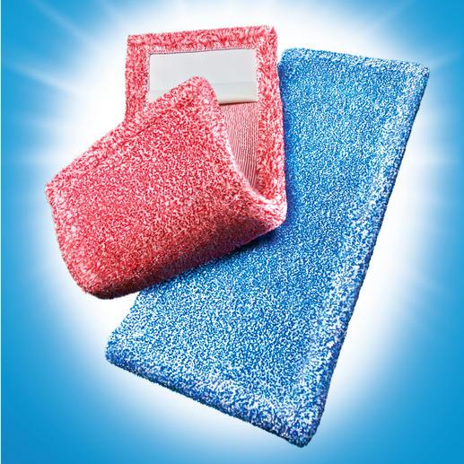 Dankzij een weefsel met een dichtheid van 860 g/m² nemen deze zwabbers veel meer vuil op dan gewone zwabbers.