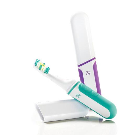 Ook bij uw reistandenborstel kunt u de opzetborstels eenvoudig vervangen.
