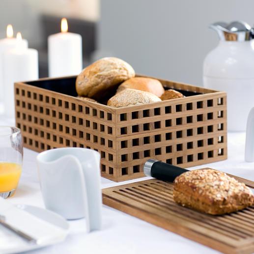 Broodtrommel van teakhout Deens design: de betere broodtrommel is ook de mooiere.