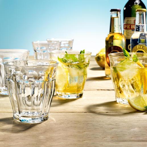 Picardie-glazen, set van 6 Klassiek. Mooi. Onverbeterbaar: de typisch Franse Picardie-glazen.