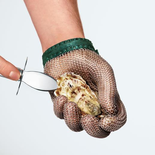 Beschermende handschoen Oesterhandschoen made in Germany. Perfect voor alle gevaarlijke klusjes met een mes.