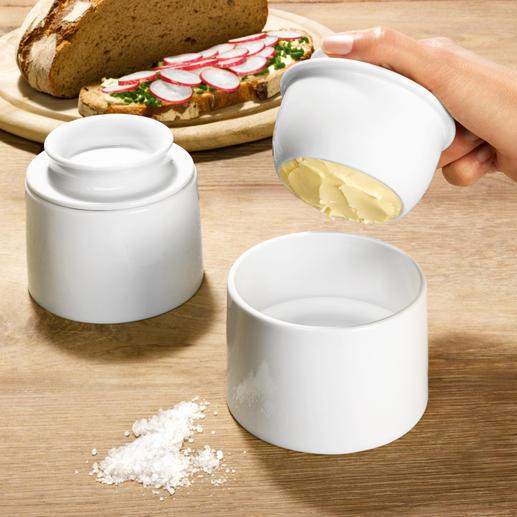 Franse boterpot Houdt uw boter heerlijk vers. Ook op kamertemperatuur. Past bij elk servies en elke tafeldecoratie.