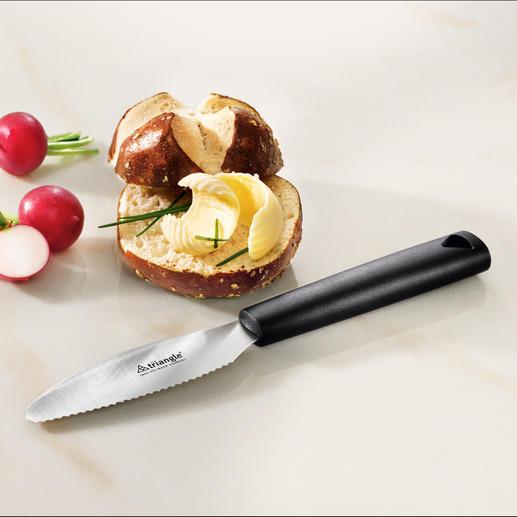 triangle® ontbijtmes Eindelijk een ontbijtmes dat kan snijden en smeren. In gehard rvs.