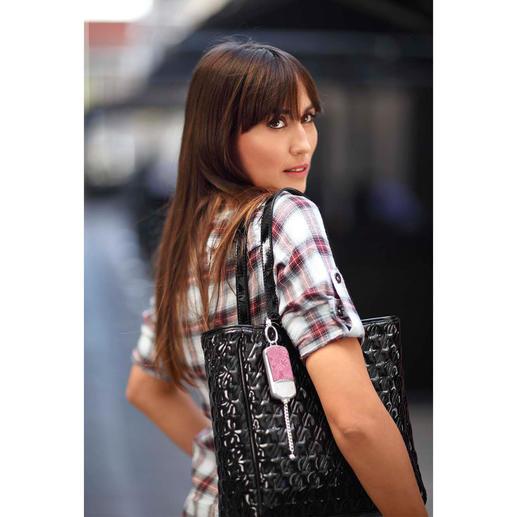 Veiligheidshanger ila DUSK Stijlvol sieraad voor de handtas. En in geval van nood alarmsirene meteen bij de hand.