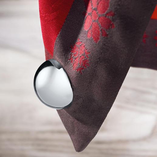 Tafelkleedmagneten bol, set van 4 Hoogglans gepolijste magneten in plaats van het vaak gebruikte plastic.